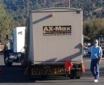 Max on Trailer